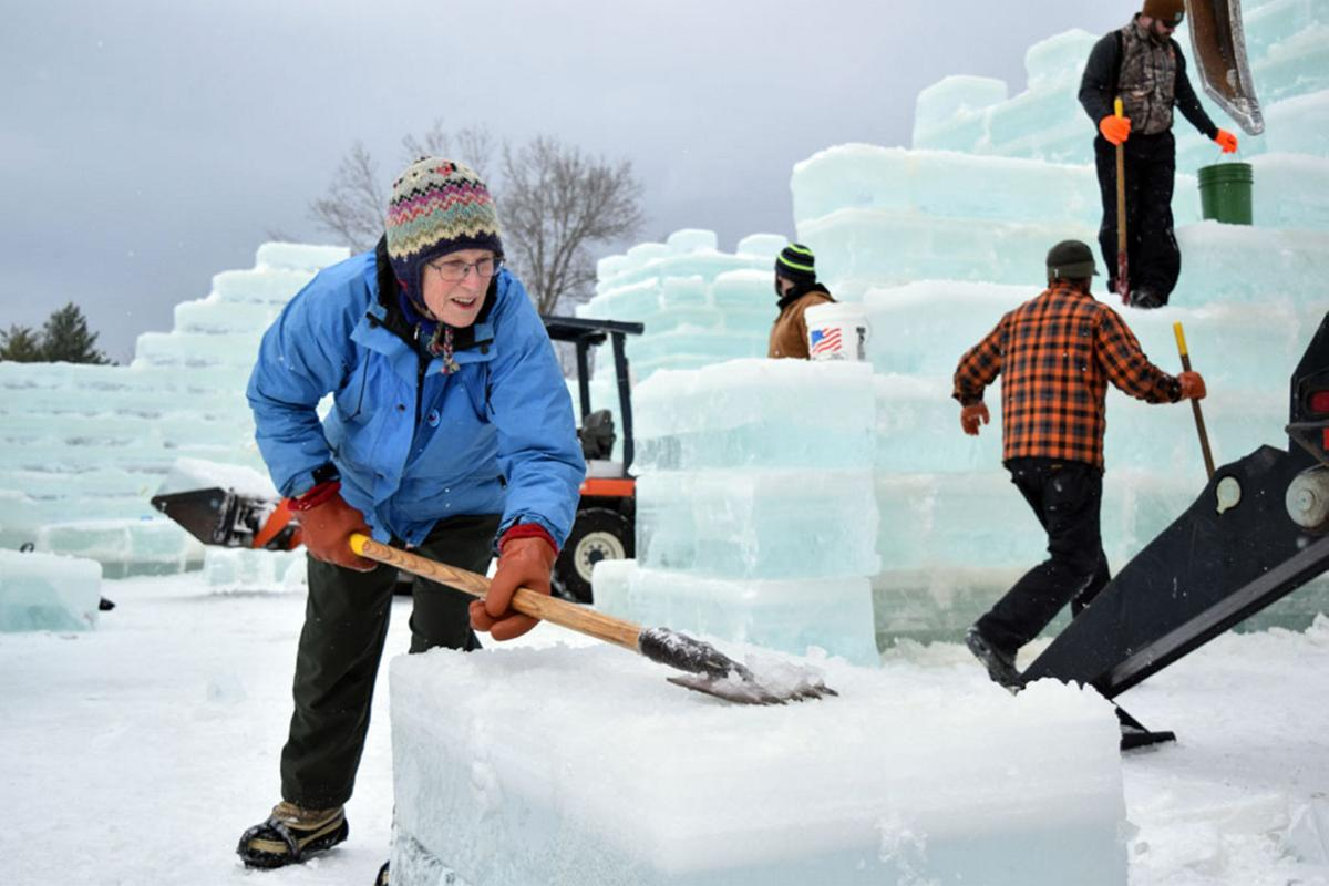Ice Palace workers spend eventful days creating a winter marvel