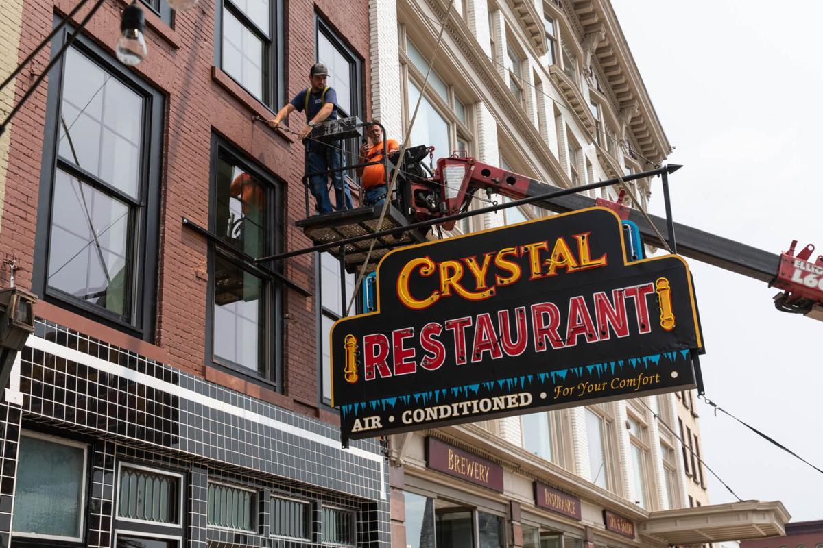 Sign returns to city's oldest restaurant