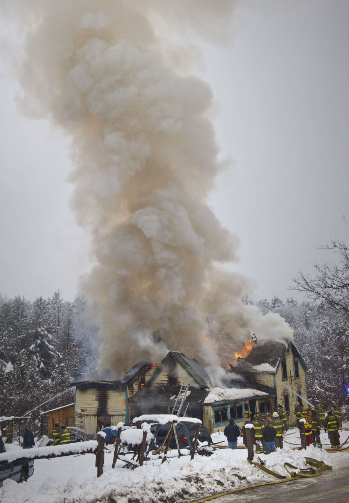Fire engulfs Parishville home; Red Cross assisting three people