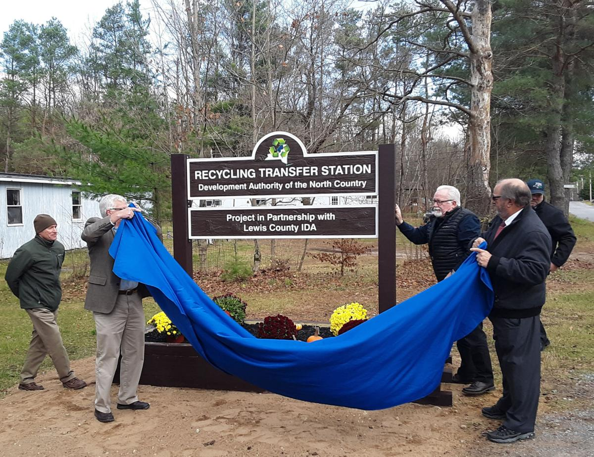 Sign unveiled at DANC recycling transfer station