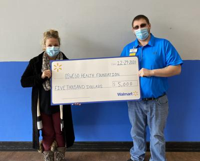 The Oswego Health Foundation receives donation from Walmart