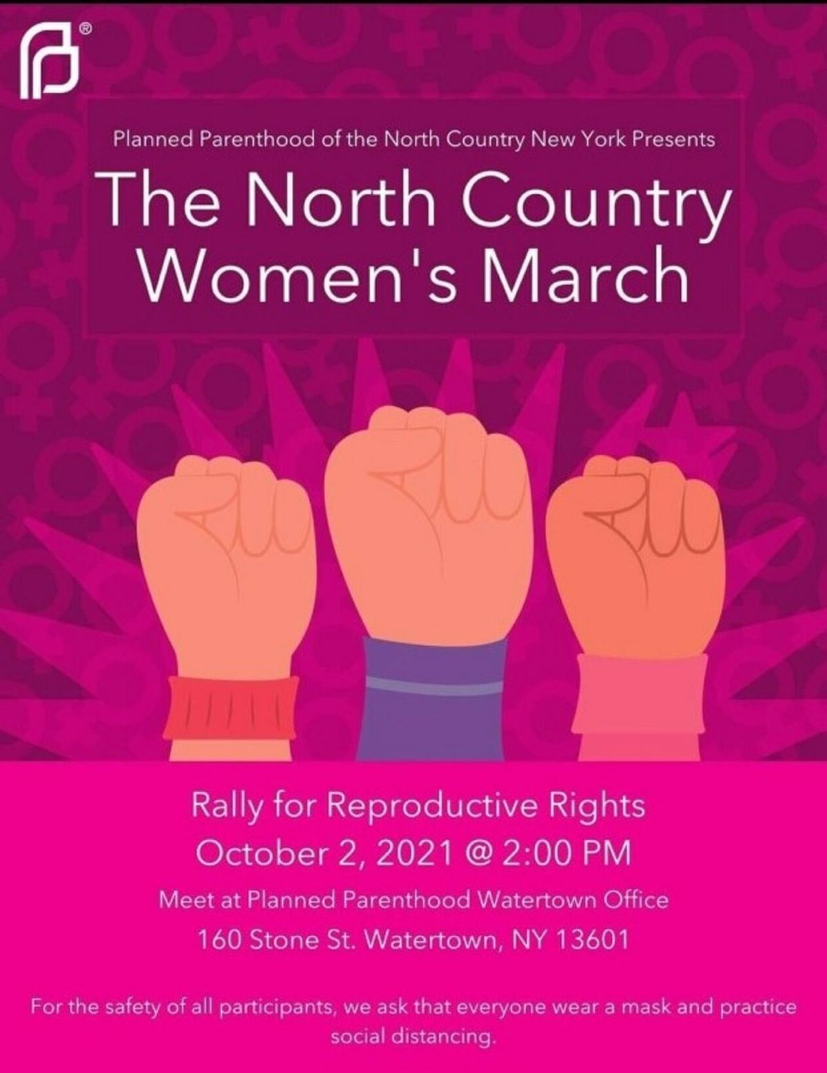 Area reproductive rights events planned