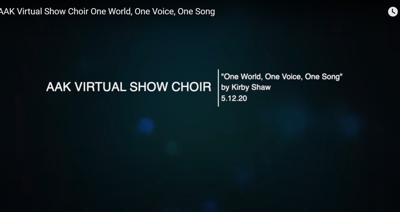 School's 'Virtual choir' finds the right note