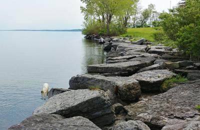 NY Sea Grant Great Lakes shoreline erosion how-to, guidebook, virtual site visits, contractor list available for fall