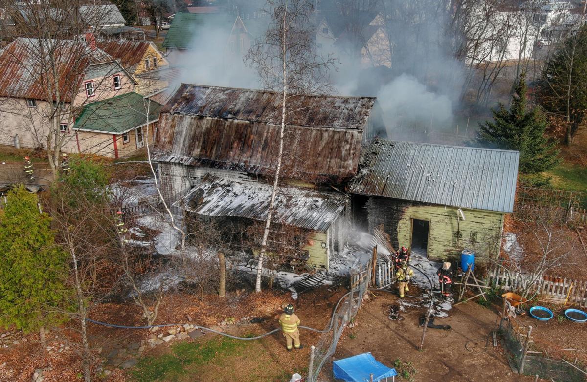 Fire rips through Brasher barn Friday morning