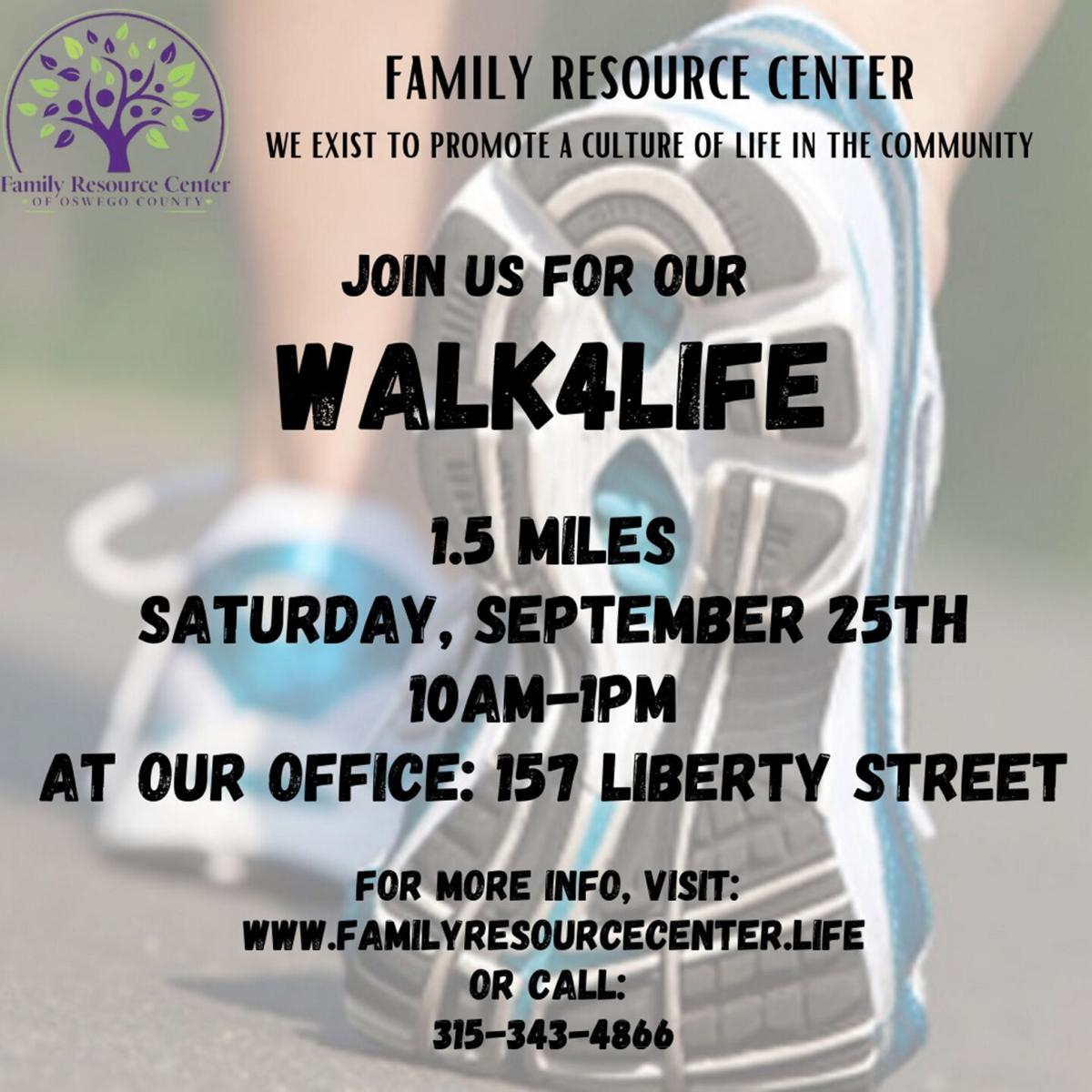 Walk4Life Sept. 25