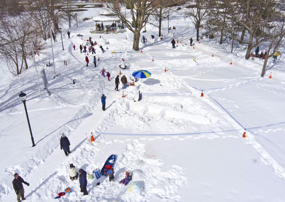 Teams show off creativity at snowman festival