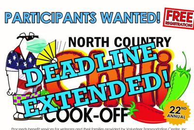 Annual chili cook-off deadline extended to Friday