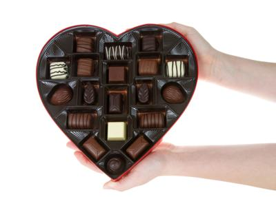 Heart-shaped boxes held more than candy