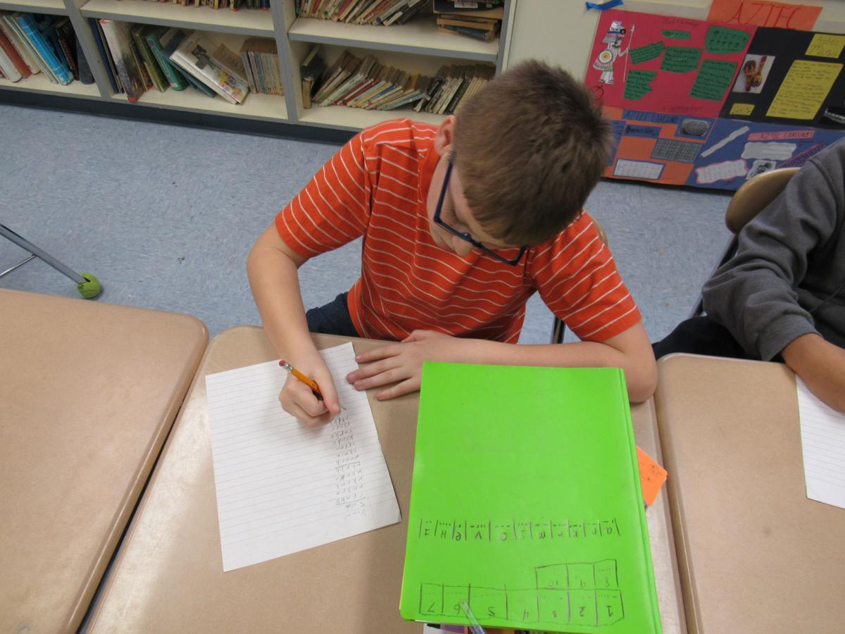 Junior high students discover dots, dashes