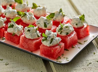 Summer romance: Goat cheese and watermelon were meant for each other