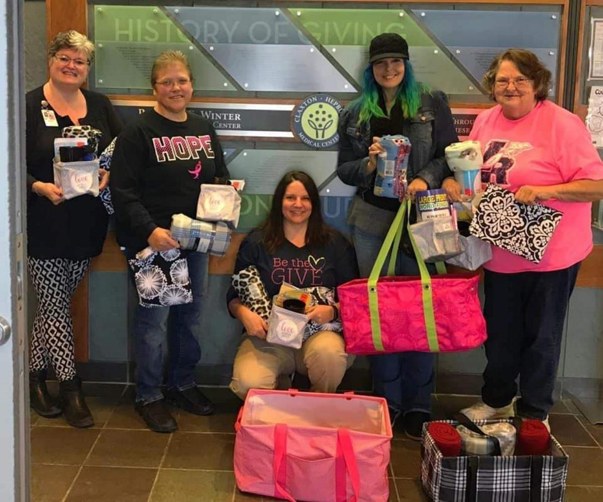 Comfort bags delivered to patients