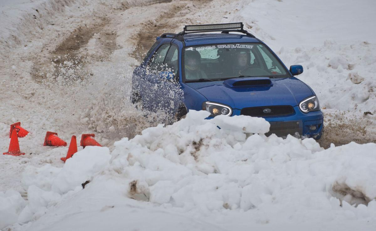 RallyCross racers battle snow, slush, mud