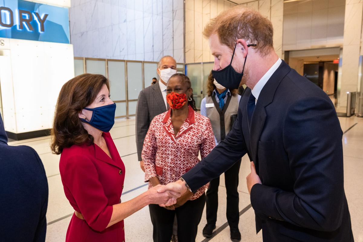 Harry and Meghan join Hochul, de Blasio at One World Trade
