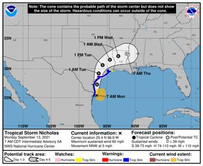 Tropical Storm Nicholas to soak Texas. Plus two Atlantic storms could form this week