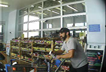 Man suspected of Walmart theft
