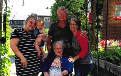Five generations of Enslow family gather