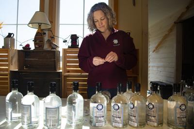 Kinney selling sanitizer from Clayton Distillery