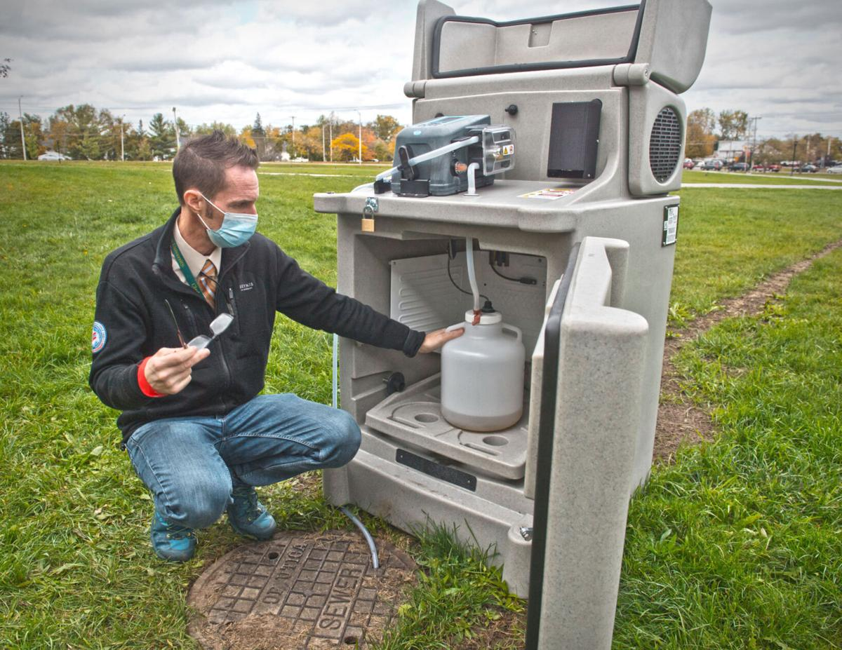 Wastewater tested for virus