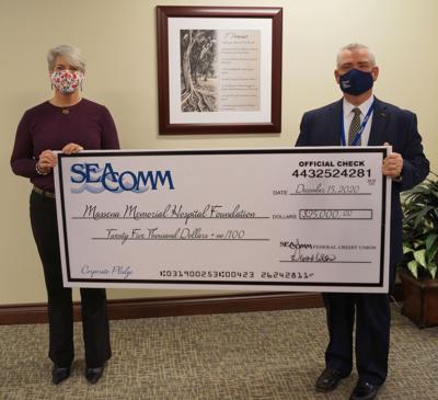 SeaComm completes $25,000 pledge to Massena Memorial