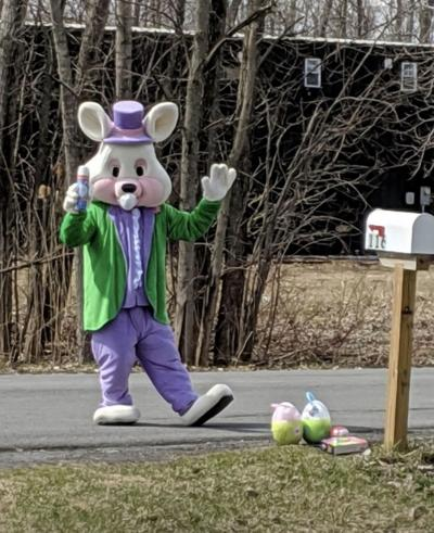 Caller reports Easter Bunny