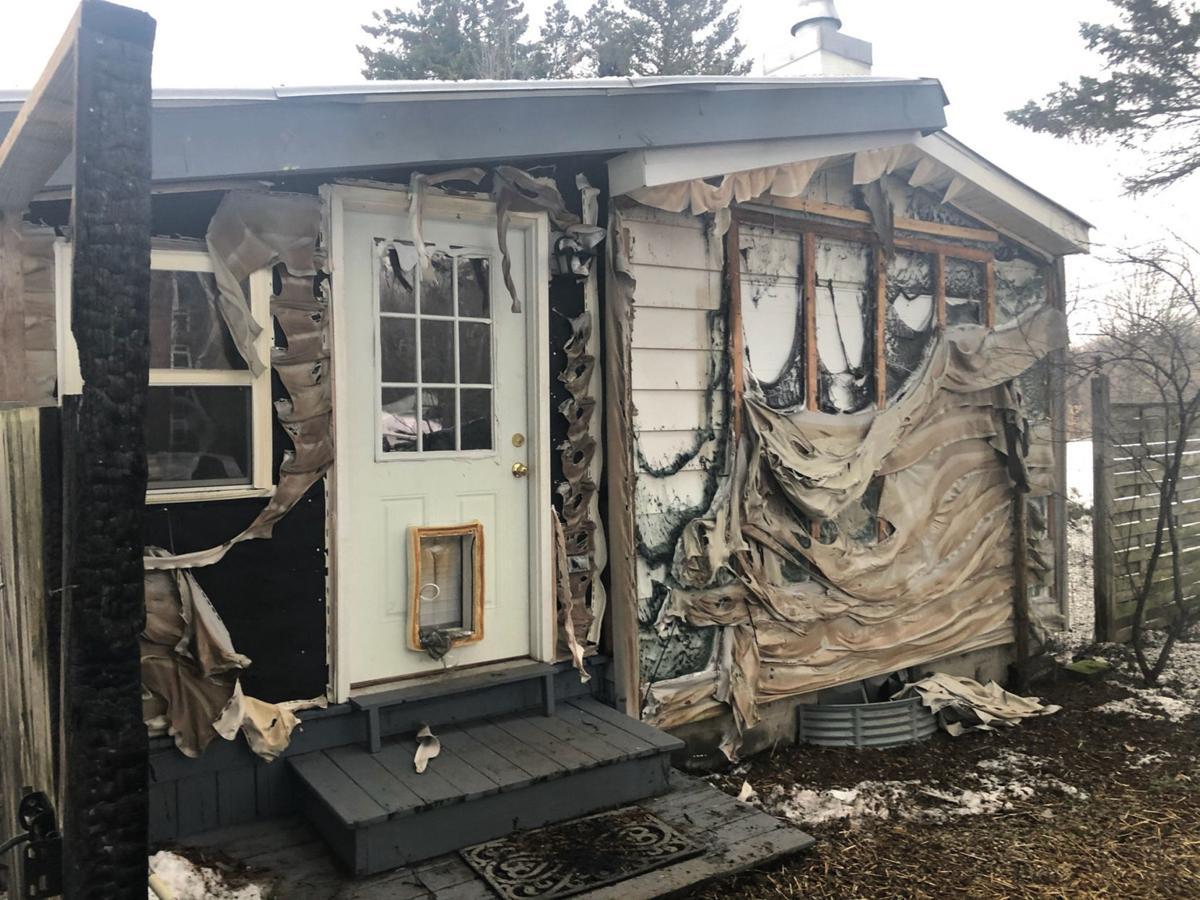 Fire destroys chicken coop, shed
