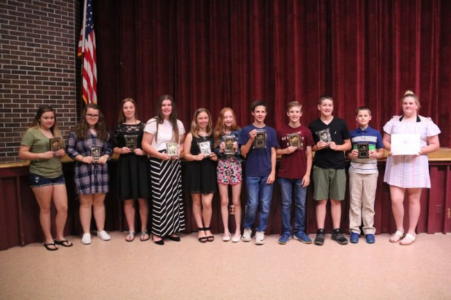 Pulaski Academy and Central School honors middle school students and educators