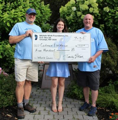 Cadence Eiriksson receives grant from Michele Wink Foundation