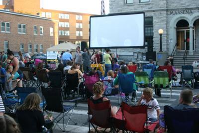 Final outdoor movie night set