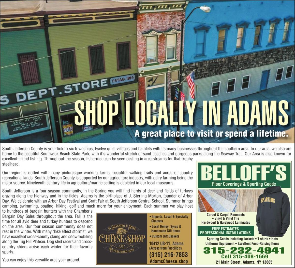 Shop Locally In Adams