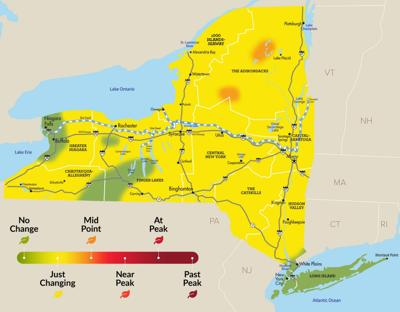 Fall foliage season is up and running in NYS