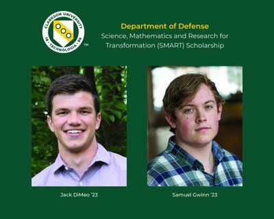Two Clarkson University students awarded SMART Scholarships