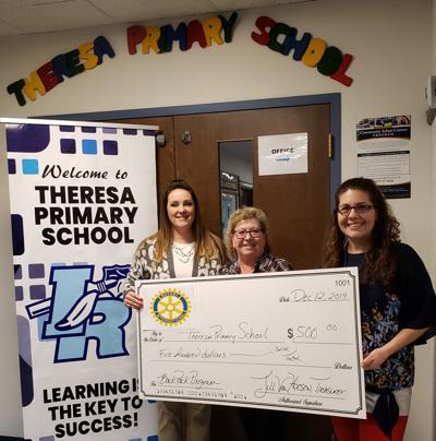 Theresa Rotary donates to BackPack Program