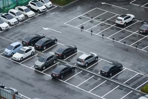Cars left unused during COVID.