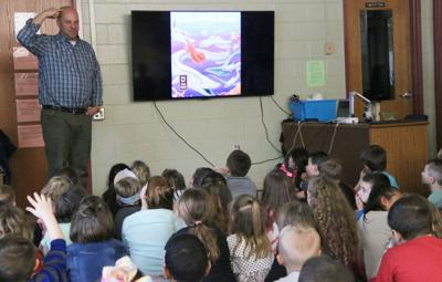 Author visits Granby students in grades kindergarten to four