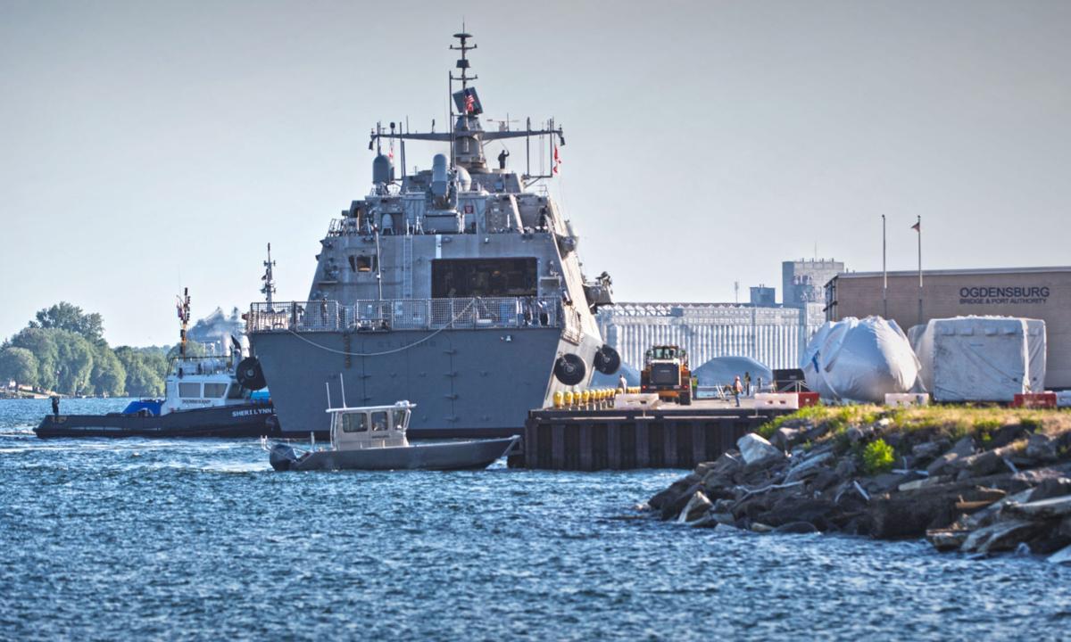 Navy warship refuels in Ogdensburg