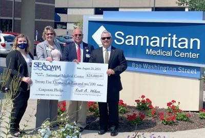 SeaComm presents $25,000 to Samaritan Medical Center Foundations