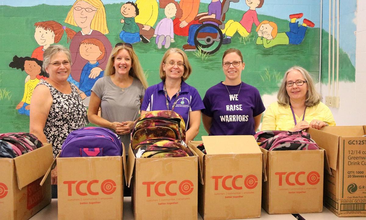HCSD, community unite for Stuff-a-Bus distribution event