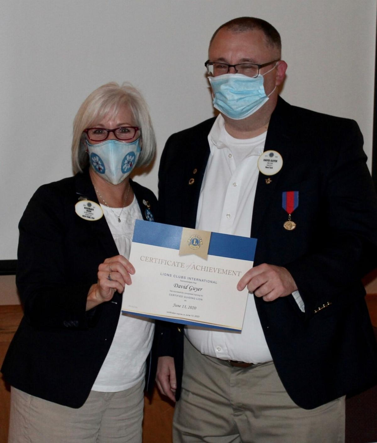 District governor visits joint Fulton-Oswego Lions meeting