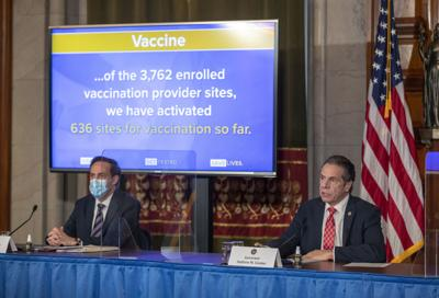 N.Y. readies thousands of public vaccine distribution sites