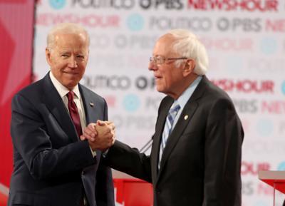 Campaigns see voters as torn between Bernie Sanders and Joe Biden