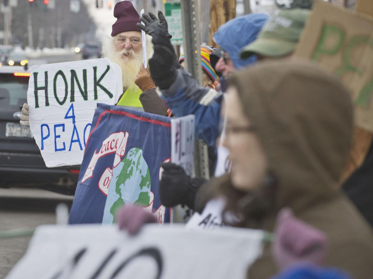 Rally opposes potential war with Iran