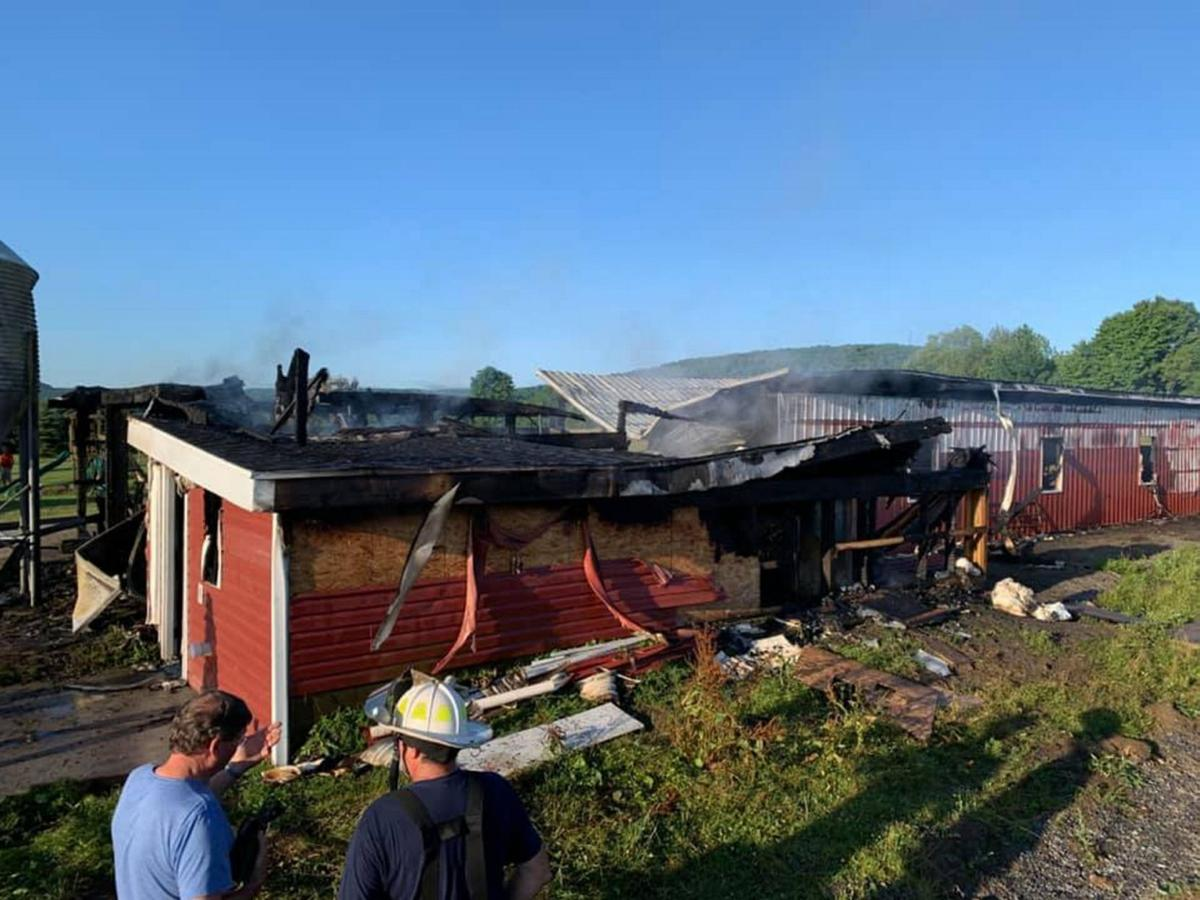 Constable barn destroyed by fire; no animals lost