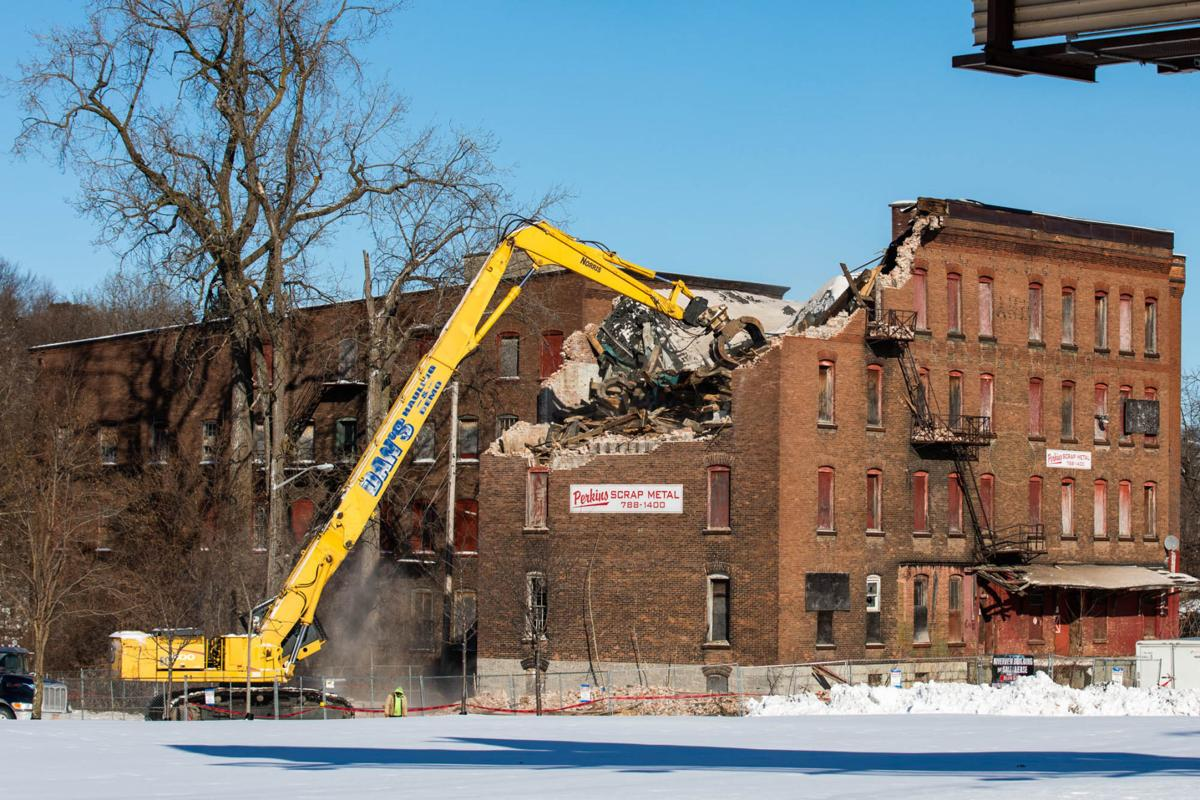 Factory Square 'eyesore' being torn down