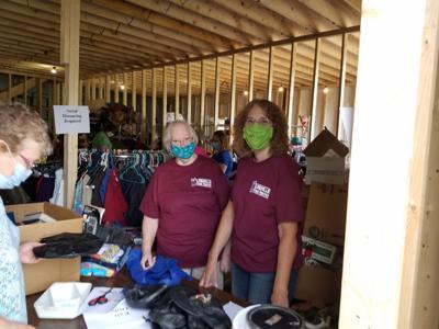 Garage sale aids pantry's building fund