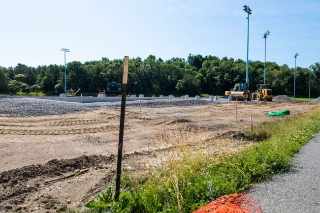 Track and Turf CAPITAL PROJECT: South Jefferson improvements to track and field underway