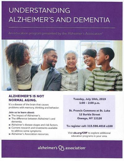 St. Francis Commons hosts Alzheimer's Association educational program on July 16
