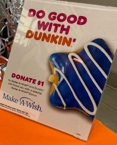 Donating to charity a slam Dunkin'
