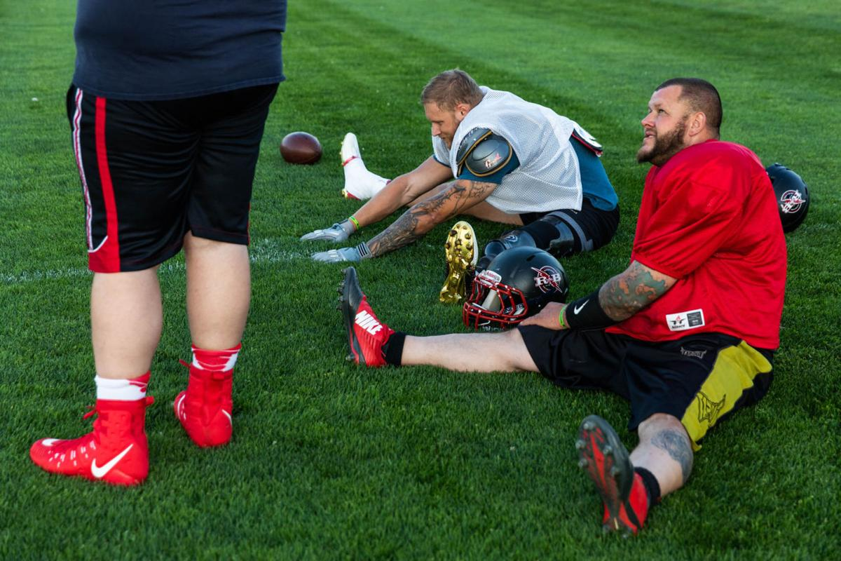 Red & Black's Ky Sawyer uses prosthetic leg