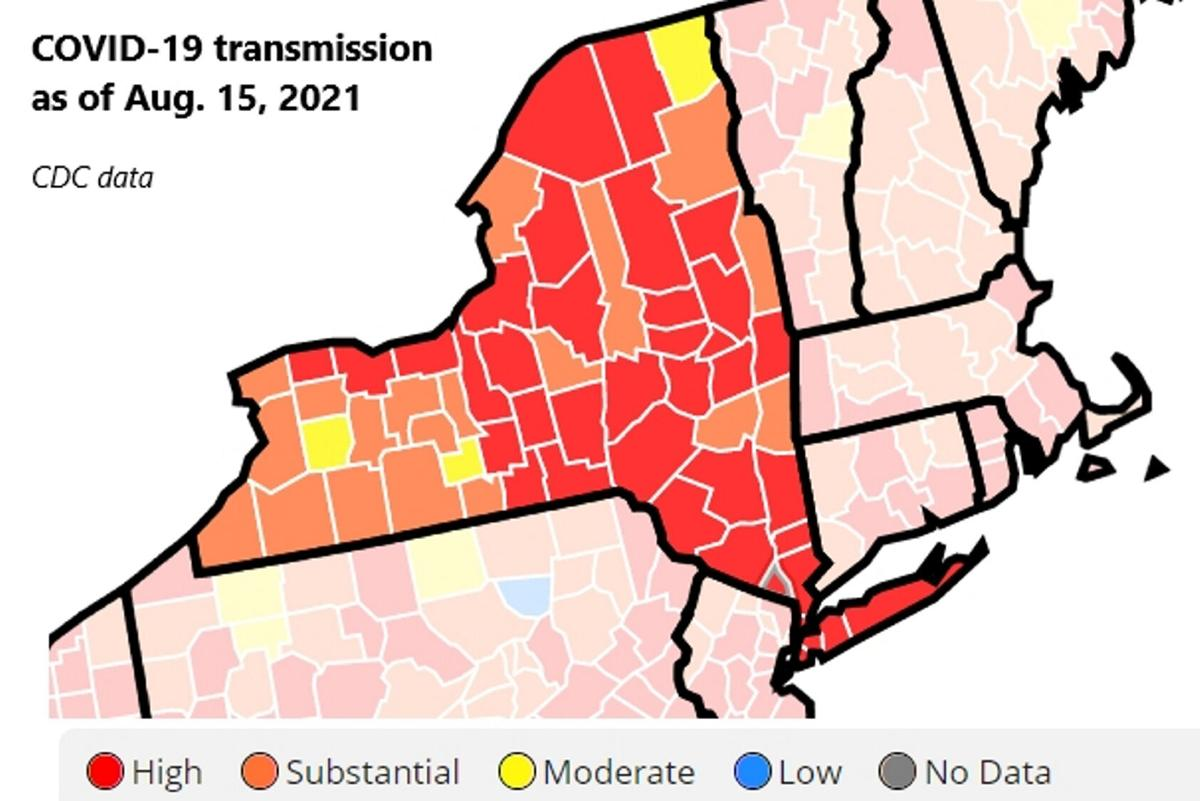 COVID-19 transmission climbs in NNY